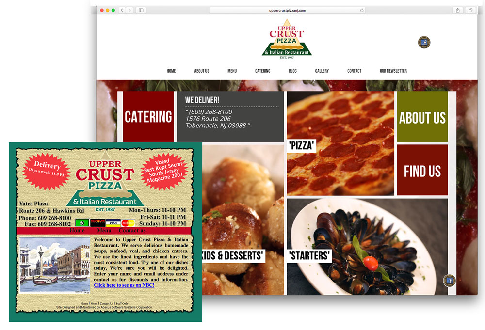 A restaurant website re-design with a responsive template, blog, gallery and menu functionality.